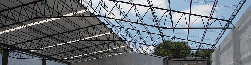Estructuras met licas trianguladas a dos aguas estructuras metalicas estructuras de acero - Fotos de estructuras metalicas ...